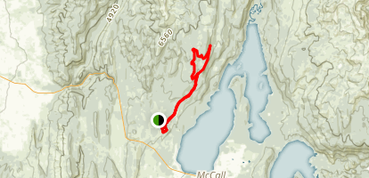 Payette Lake Rim Loop Map