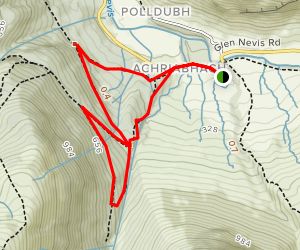 Achriabhach Forest Loop Map