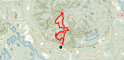 Shaw Mountain Trail to Bald Knob Trail Map