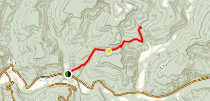 Ozark Highlands Trail: Indian Creek to Lick Branch Map