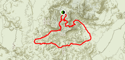 Outer Mountain Loop with Pinnacles Trail and Jupiter Canyon Map