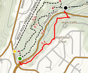 Moss Rock Preserve: Red Trail Map