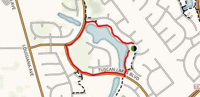 Lago Siena Trail Map