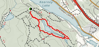 Charlie's Lake Trail  Map