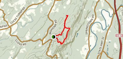 Bonticou Crag and Table Rocks Loop Map