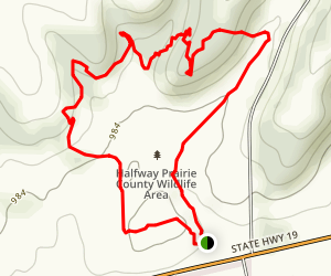 Halfway Prairie County Wildlife Area Loop Trail Map