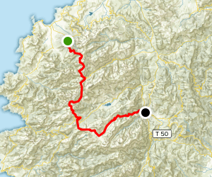 GR20 Trek: Calenzana to Corte Map