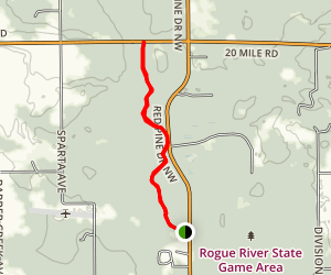 North Country Trail: Red Pine to 20 mile Map