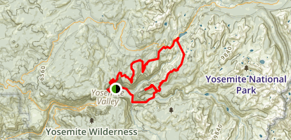 Yosemite Valley East Loop Map