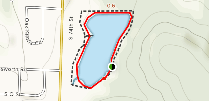 Wildcat Mountain Lake Walking Path Map