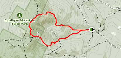 Manning Trail, Clark Trail, and Holt Trail Loop to Mount Cardigan Map