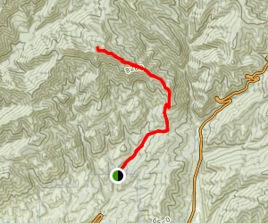 Killyon Canyon to Lookout Peak Map