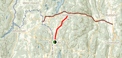Delaware and Hudson Rail-Trail: Poultney to Castleton Map