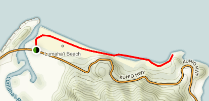 Lumahai Beach Walk Map