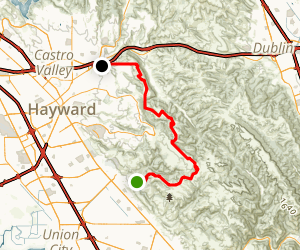 Garin to Don Castro via High Ridge Loop Trail Map