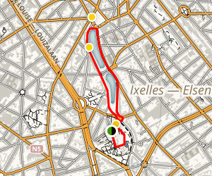 Ixelles Pond Loop Map