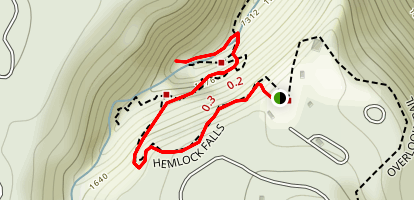 Hemlock Falls Trail Map
