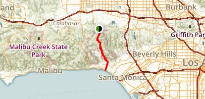 Temescal Canyon Road to the Ocean Map