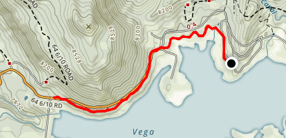 Vega Lake North Trail Map