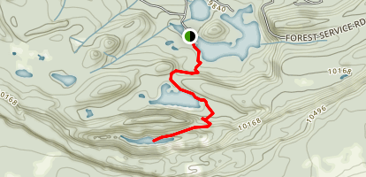 Lost Lake and Mesa Lakes from Glacier Spring Campground Map