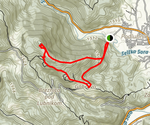 Ascent of Lubnik Map