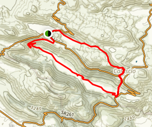 St Stefanio - Calascio Loop Map