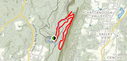 Middle Trail, Trail B, Bluff Road and Trail A Loop Map