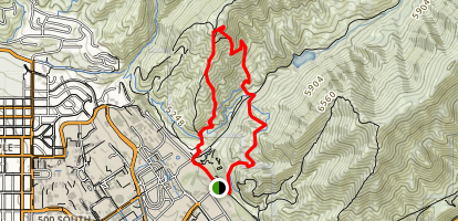 Red Butte Canyon Trails Map