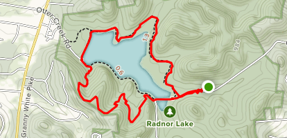 Radnor Lake Loop Map