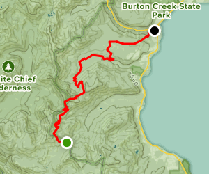 Barker Pass To Tahoe City Map