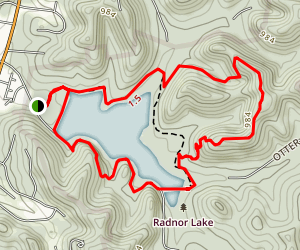 Lake & Ganier Ridge Trails Map