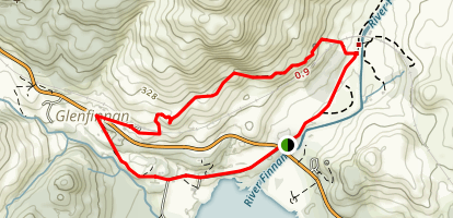 Glenfinnan Viaduct Loop Map