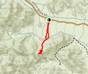 Silver Bell Mine Hike Map