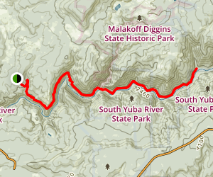 South Yuba Trail to the Missouri Bar Trail Map