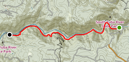 South Yuba River: Edwards Crossing to Purdon Crossing Map