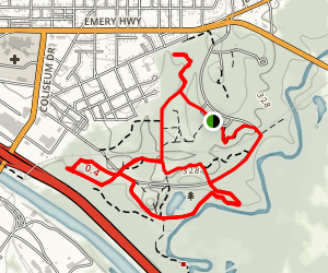 Ocmulgee National Monument Loop Map