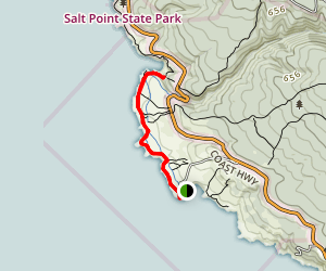 Salt Point Trail to Stump Beach Map