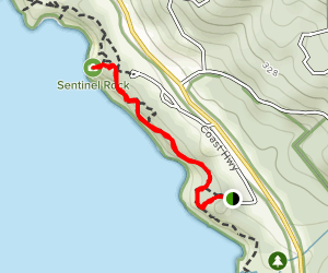 Bluff Trail to Fisk Mill Cove Map