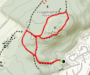 Craig Phadrig Loop Map
