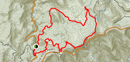 Balsam Range Little Sam Knob Loop Trail Map