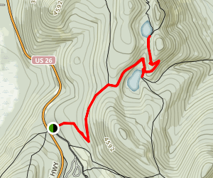 Lower & Upper Twin Lakes via PCT Map