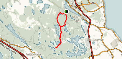 Fox Lake, Crane Lake, and Ash Lake Loop Map