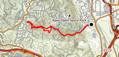 Apex and Enchanted Forest Trail Loop Map