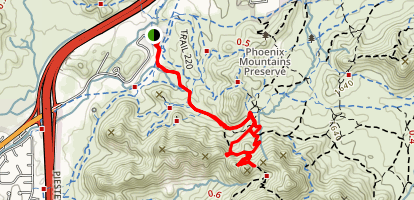 Charles M. Christiansen Trail to Voaz Loop Map