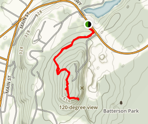 Rattlesnake Mountain Via Metacomet Trail Map