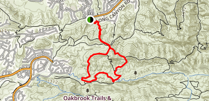 Long Canyon Trail to Lang Ridge Loop Map