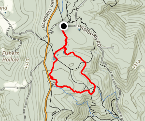 Connector, Lawn Mower, and Catocin National Recreation Trail Loop Map
