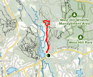 Rice Pond to Lookout Rock Map