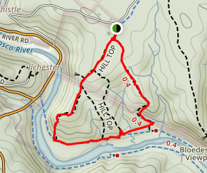 Buzzards Rock, Grist Mill, and Drugs Loop Map