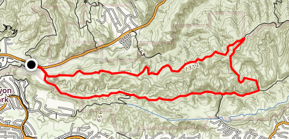 Gilman Peak Loop Map